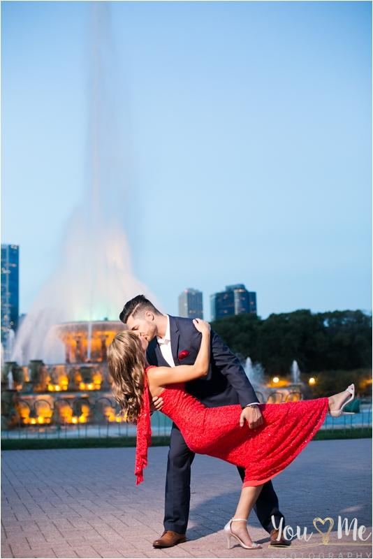 Wonderful Buckingham Fountain Engagement Session