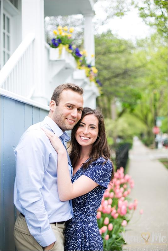 Romantic, Spring time, Lincoln Park engagement session