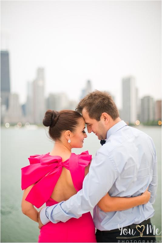 Blooming downtown Chicago engagement session